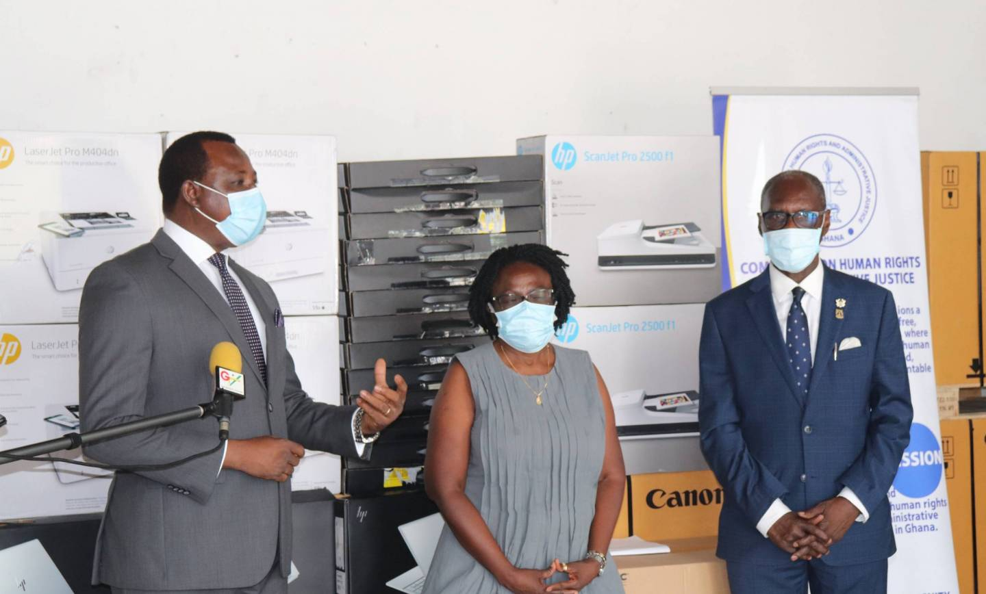 CHRAJ RECEIVES IT EQUIPMENT FROM THE GOVERNMENT